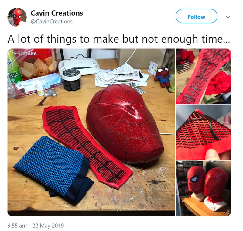 DIY Spider man mask