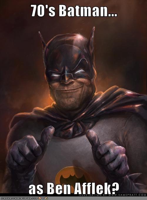 70's Batman...  as Ben Afflek?