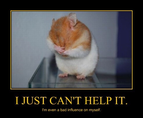 poster bad influence hamster - 8487482880