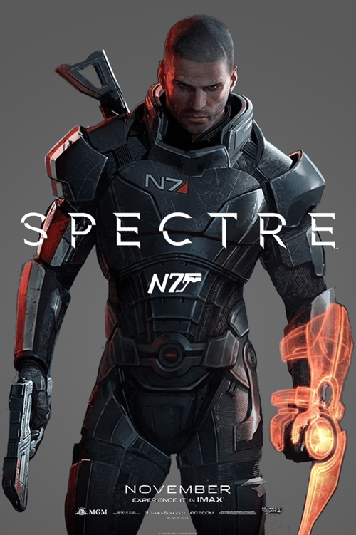 007 commander shepard james bond mass effect shepard spectre - 8487724288