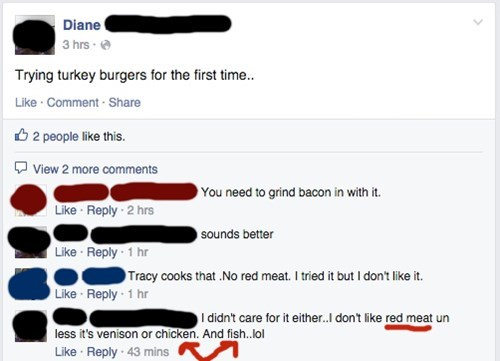 food facepalm meat