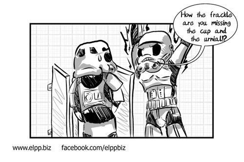 peeing star wars stormtrooper toilets web comics