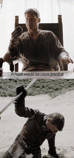 Game of thrones memes season 5 hook versus hand for Jaime Lannister