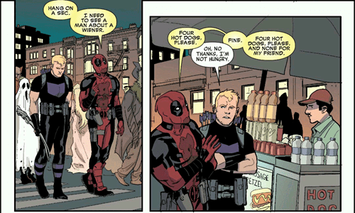superheroes-deadpool-marvel-hawkeye-snack-break-panel