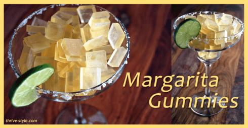 drinking recipe gummy chewable margarita