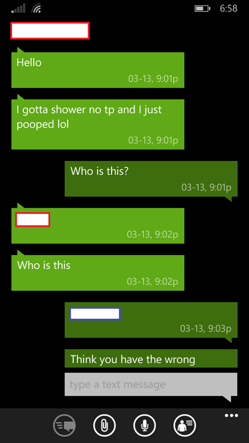 wrong number,gross,Awkward,texting,failbook