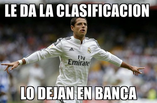 Chicharito en la banca