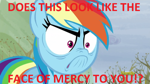 angry face mercy rainbow dash - 8488751616