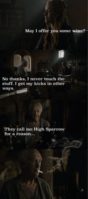 Game of thrones memes season 5 High Sparrow has his own fun.