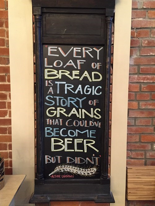 funny beer sign Tragic