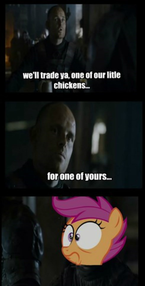 Game of Thrones,chickens,Scootaloo