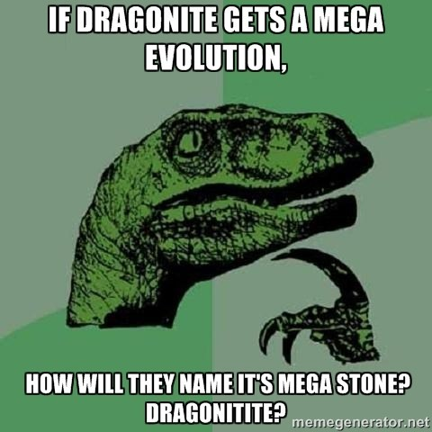 mega evolutions,dragonite,philosoraptor