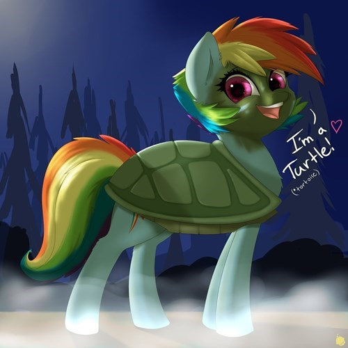 Fan Art turtle rainbow dash - 8489482752