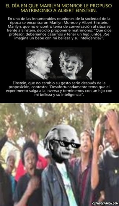 Einstein y Marilyn