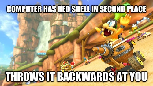 Funny video game logic from Mario Kart 8