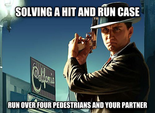 Funny logic issues in LA Noire video game
