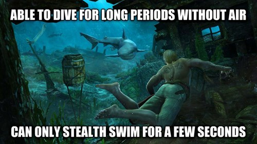 Assassin's Creed IV Logic about stealth swimming