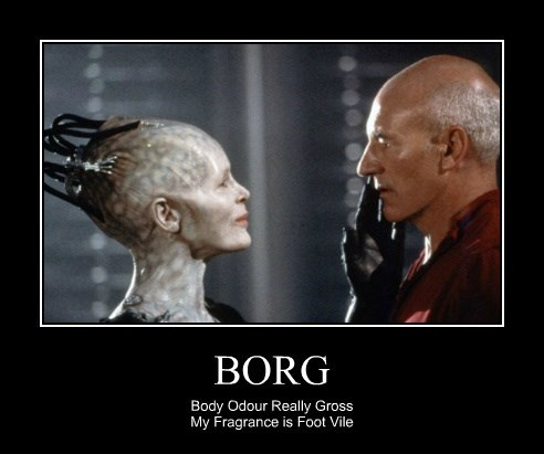 BORG Body Odour Really Gross My Fragrance is Foot Vile