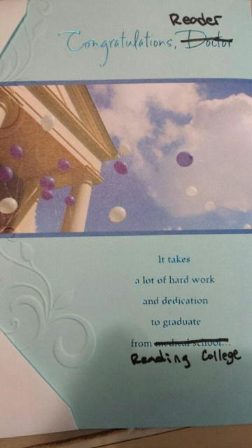 the perfect graduation card for an english major school of fail