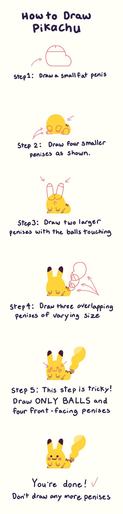 pokemon memes draw pikachu with dongs