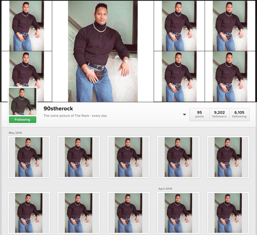 Dwayne Johnson's Instagram presence is so large.