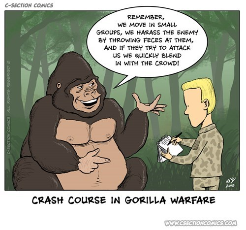 funny-web-comics-crash-course-in-gorilla-warfare