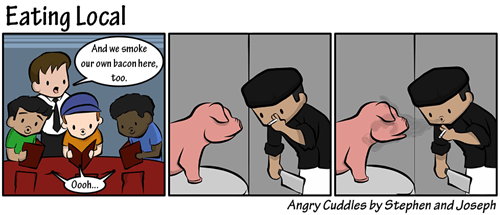 portland,pig,food,bacon,web comics