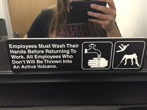 work sign image It's the Only Way to Prevent the Spread of Typhoid Fever