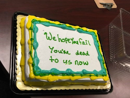 funny cake image Congratulations on Your New Job!