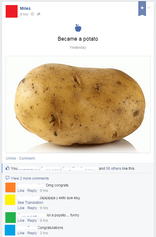 comment potato prank