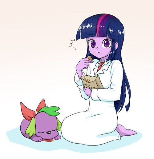 Fan Art,twilight sparkle,spike