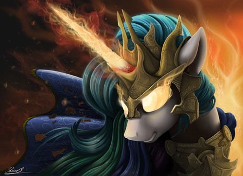 Fan Art princess celestia BAMF - 8490929408