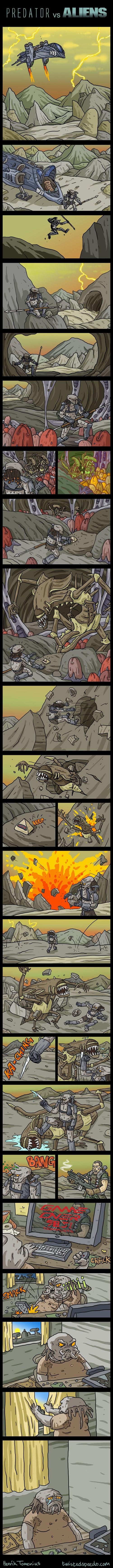 aliens vs predator vs humanos