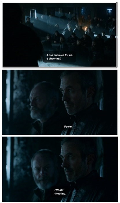 Game of thrones memes season 5 Stannis is a grammar nazi