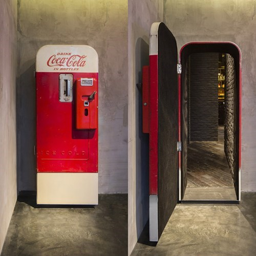 hidden bar image This Coke Machine is Hiding the Entrance to a Bar