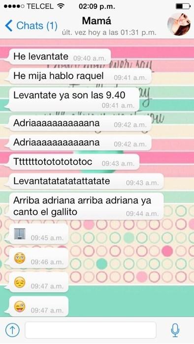 mama con whatsapp