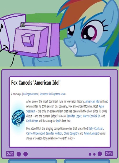 American Idol canceled rainbow dash - 8491442944