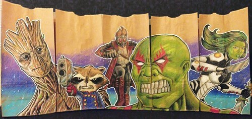 superhero lunch bag image guardians of the galaxy