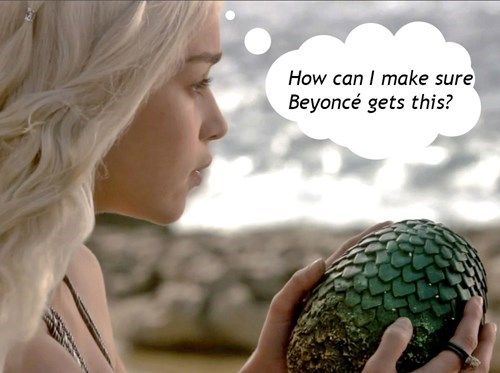 Game of thrones memes season 5 Jay Z bought beyonce a dragon's egg.
