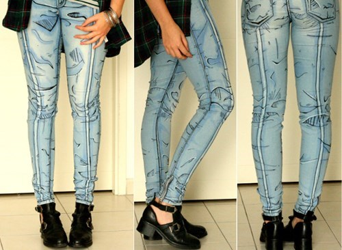 fashion cartoons design jeans - 8491581952