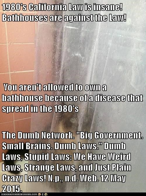 Stupidest laws in california