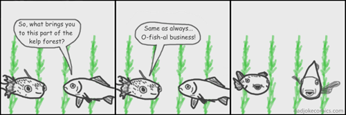 fish dad jokes puns web comics - 8491986944