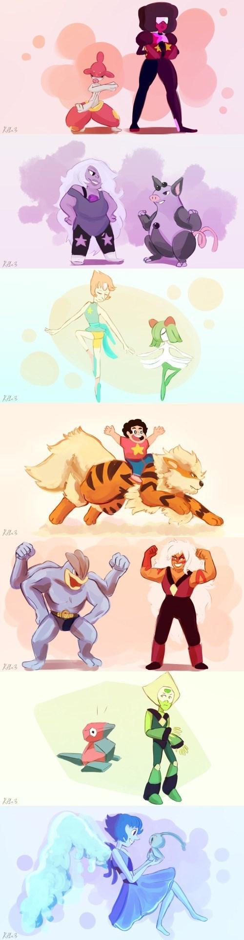 pokemon memes steven universe trainers crossover
