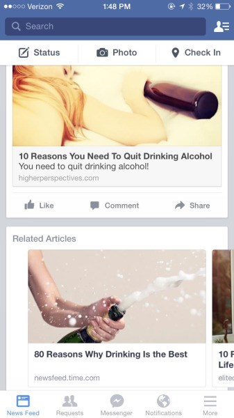 funny drinking ads You're Sending Mixed Messages Facebook