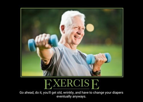 demotivational exercise image Just Do It