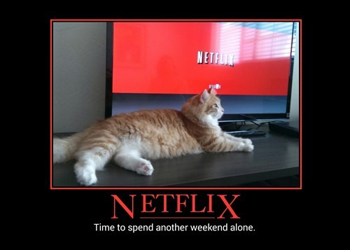 demotivational netflix image Get Excited