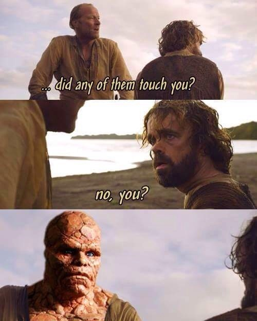 game of thrones memes jorah has something on his face