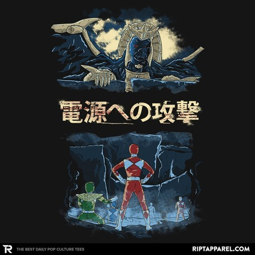 power rangers anime for sale t shirts attack on titan - 8492912384
