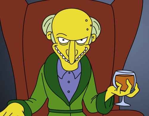 cartoon memes harry shearer mr burns leaves simpsons