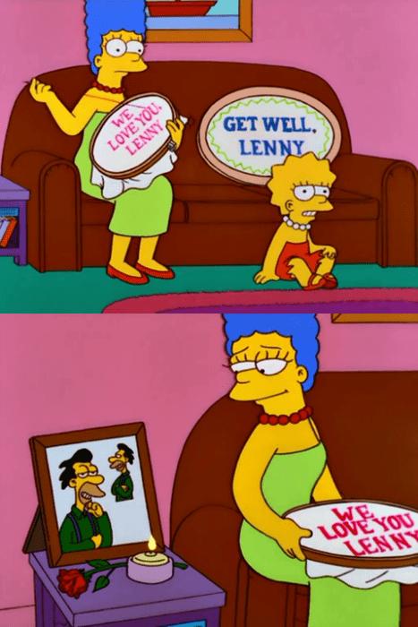 Cartoon - LoVENOU. LENNY GET WELL LENNY WE LOVE YOU LENN
